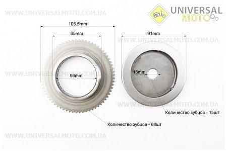 Бендикс - Обгонная муфта Yamaha Axis 90, Vento, Stels/Keeway (вал 16мм)