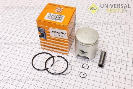 Поршень, кольца, палец к-кт Yamaha JOG50 40мм +0,25 желтая коробка (палец 10мм)