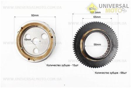 Бендикс - Обгонная муфта Yamaha Axis 90, Vento, STELS (вал 16мм)