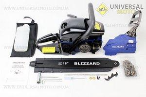 """Бензопила BLIZZARD 45cc (2,9кВт шина 18"""") с подкачкой, с уровенем в баке. Крышка стар. и тор. - метал. Цепь-72зв., квад. зуб, отличное качество."""