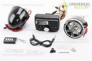 """Колонки 2шт """"ХРОМ"""" с ЖК дисплеем +МРЗ-USB/SD+FM+пультДУ+сигнализация"""