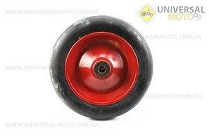 Колесо на тачку с резиной пресованной 3,50-8 (под ось 20мм)