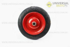 Колесо на тачку с резиной литой 3,50-8 (под ось 20мм)
