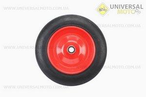 Колесо на тачку с резиной литой 4,00-8 (под ось 20мм)