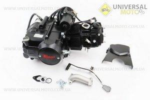 """Двигатель для квадроцикла (мопедный) в сборе 110куб  - """"механика"""" (3передачи + 1 задняя)"""