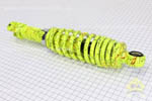 Амортизатор задний 290мм (регулируемый, цвет - лимонный с паутиной)