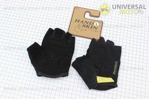 Перчатки без пальцев L-черные, с мягкими вставками под ладонь