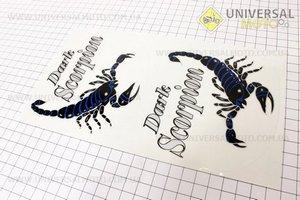 "Наклейка ""Dark Scorpion"" синяя"