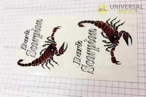 "Наклейка ""Dark Scorpion"" красная"