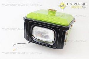Бак топливный R175A/R180NM, 260x190x160мм, выст. горловина, отверстие под шланг топливный + фара + облицовка