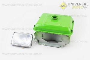 Бак топливный R190N, 265x220x165мм, выст. горловина, отверстие под шланг топливный + фара